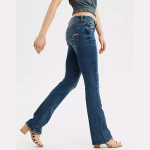 American Eagle Kick Boot Blue Jeans Size 2 Long
